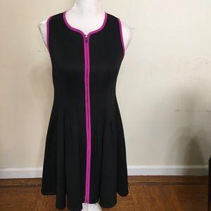 Betsey Johnson Black Stretch Pleated Dress Size 6